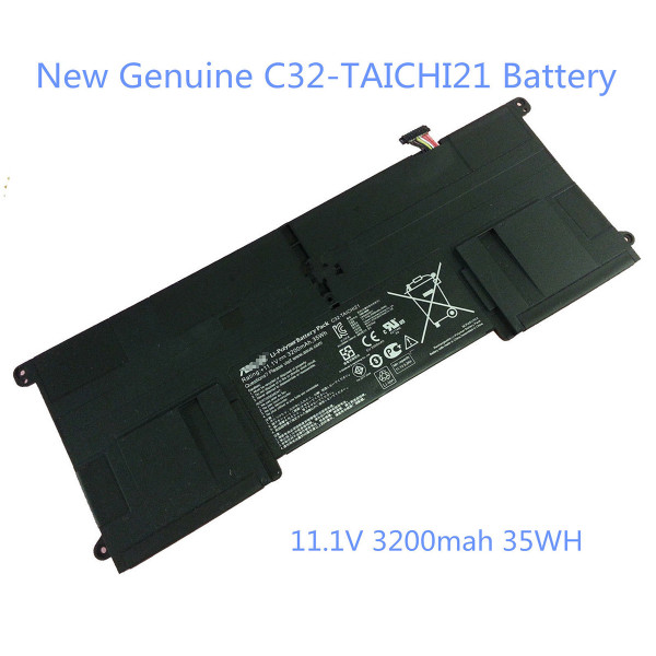 "C32-TAICHI21 3200mAh 35Wh Genuine Battery For ASUS TAICHI 21 11.6"" Laptop"