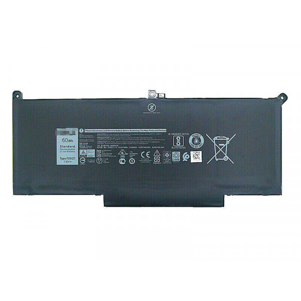 60Wh Dell Latitude 12 7000 7280 7480 DM6WC 2X39G F3YGT Battery