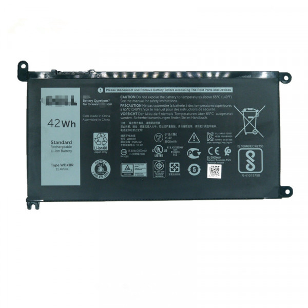 42Wh Dell Inspiron 13 5368 5378 7368 7378 3CRH3 T2JX4 FC92N WDX0R Battery