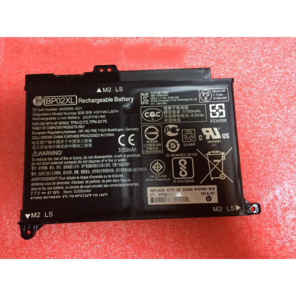 Replacement HP Pavilion Notebook PC 15 15-AU010WM 15-AU018WM BP02XL Battery