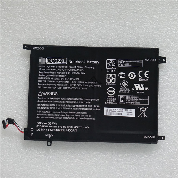 Genuine  HP Pavilion x2 10-n013dx 810985-005 DO02XL Battery Pack
