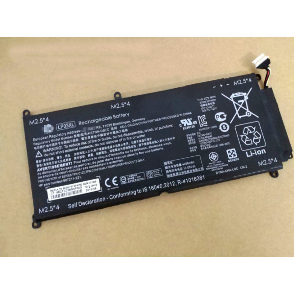 LP03XL HSTNN-DB6X Replacement Battery for HP ENVY 15-ae020TX 11.4V 48Wh