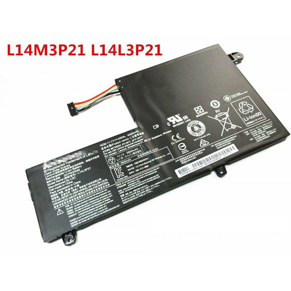 45Wh Lenovo Edge 2-1580 FLEX 3-1470 3-1580 L14L3P21 L14M3P21 Battery