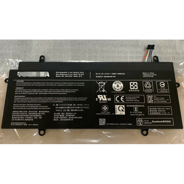 Replacement Toshiba PA5136U-1BRS Portege Z30 Z30-A 52Wh 3460mAh Battery