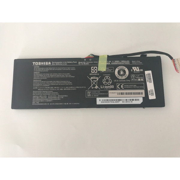 Replacement 7.2V 28Wh Battery Toshiba Satellite L15W-B1310 P000627450 PA5209U-1BRS